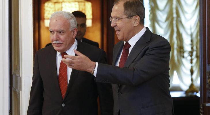 Главы МИД Палестины и России