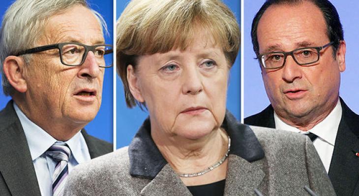 Ангела Меркель обсудит проблемы ЕС С Юнкером и Олландом