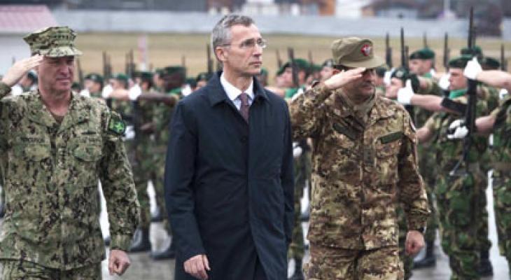 Cилы быстрого реагирования НАТО и генсек альянса Йенс Столтенберг