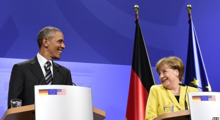 Обама и Меркель в Ганновере