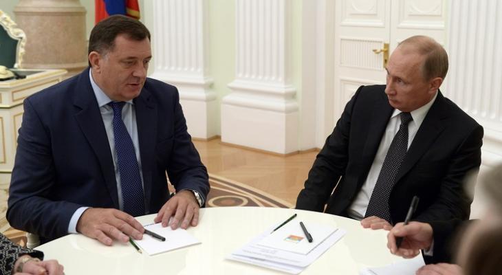В. Путин, встреча в Кремле с Млорадом Додиком, обсуждили ситуацию на Балканах и двустороннее сотрудничество