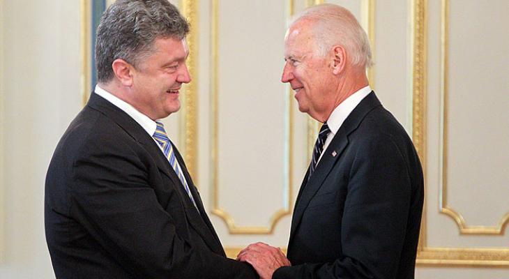 Президент Украины Петр Порошенко и вице-президент США Джо Байден