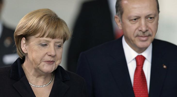 Меркель и Эрдоган в Стамбуле