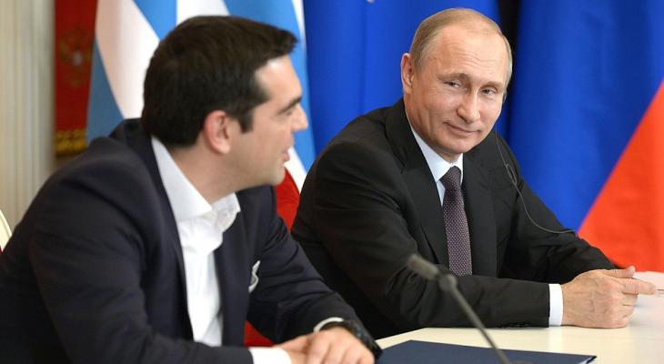 Путин и Ципрас. Афины - май 2016