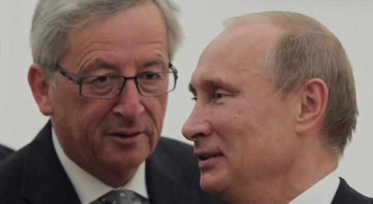 Путин и Юнкер