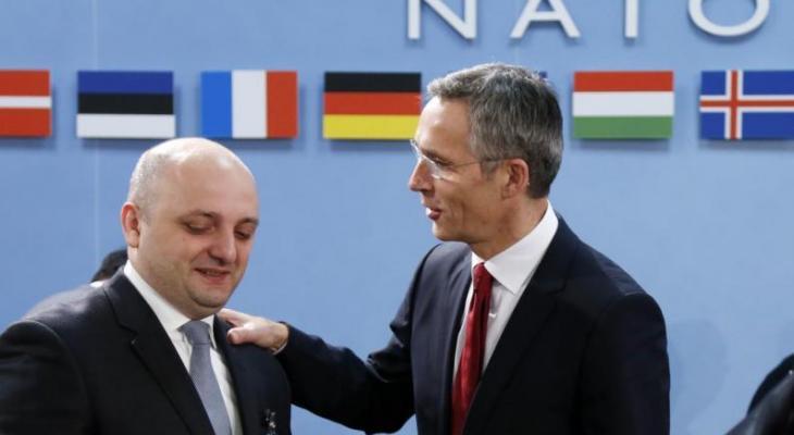 Генсек НАТО Столтенберг и министр обороны Грузии Янелидзе
