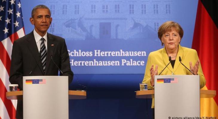 Барак Обама и Ангела Меркель в Ганновере