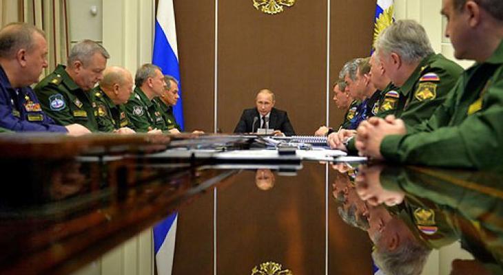 Президент России на совещании с военачальниками