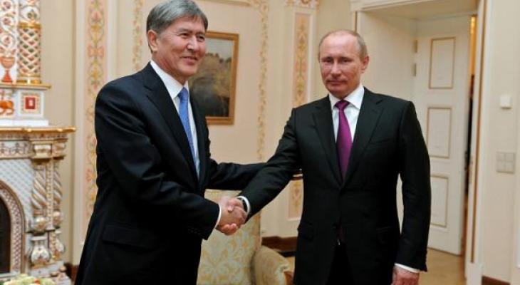 Президенты Киргизии и России, Атамбаев и Путин