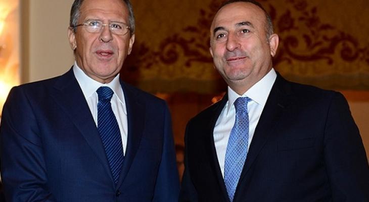 Глава МИД РФ Сергей Лавров и глава МИД Турции Мевлют Чавушоглу