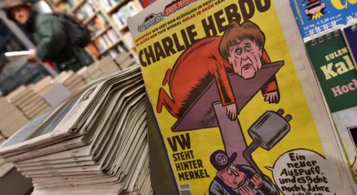 Charlie Hebdo высмеял Меркель