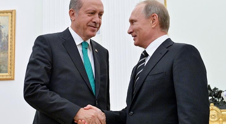 Президент России В. Путин и президент Турции Т. Эрдоган