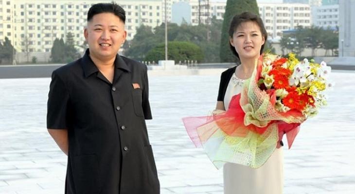 Лидер КНДР Ким Чен Ын  и Ли Соль Чжу