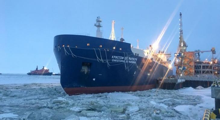 танкер Кристоф де Маржери с российским газом по пути в Британию