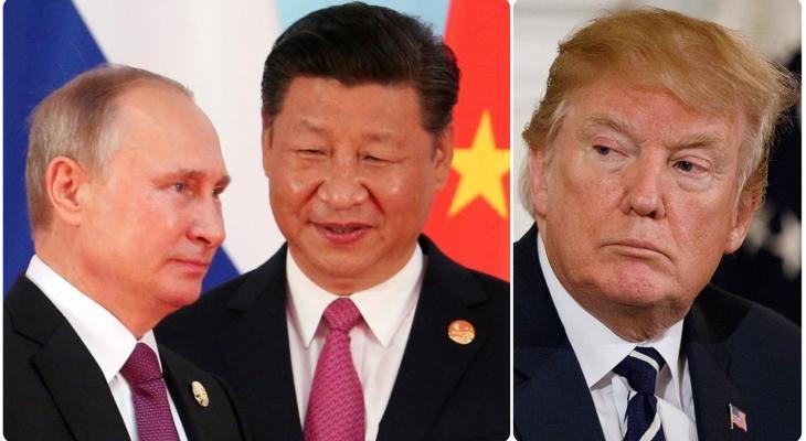 Лидеры стран КНР, России и США