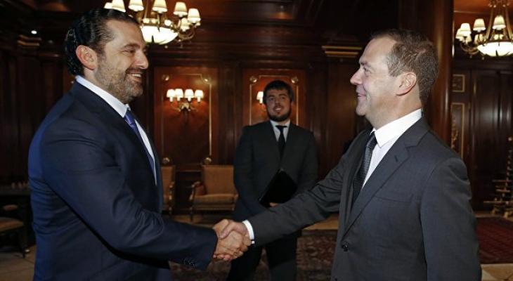 Саад Харири и Дмитрий Медведев