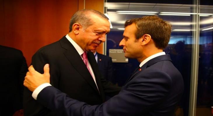 встреча президента Франции Э. Макрона с лидером Турции Эрдогана