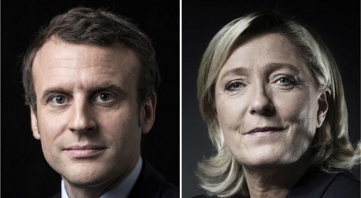 Кандидаты в президенты Франции: Эммануэль Макрон и Марин Ле Пен