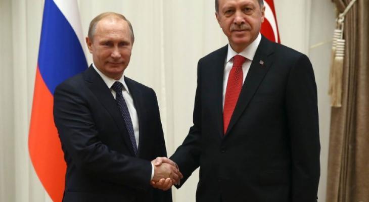 Президент России В.В. Путин и президент Турции Р.Т. Эрдоган