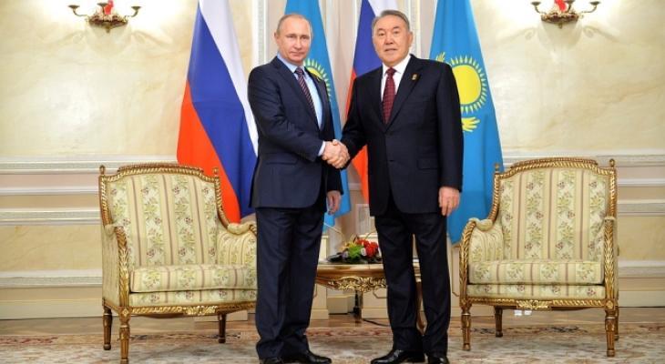 В Астане состоялась встреча Путина и Назарбаева
