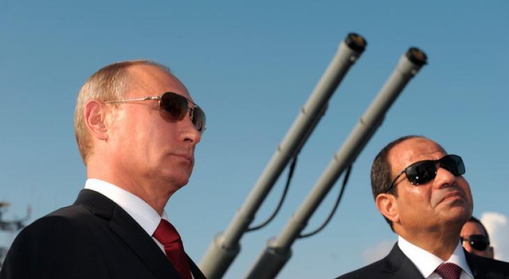 Лидеры России и Египта - Путин и ас-Сиси