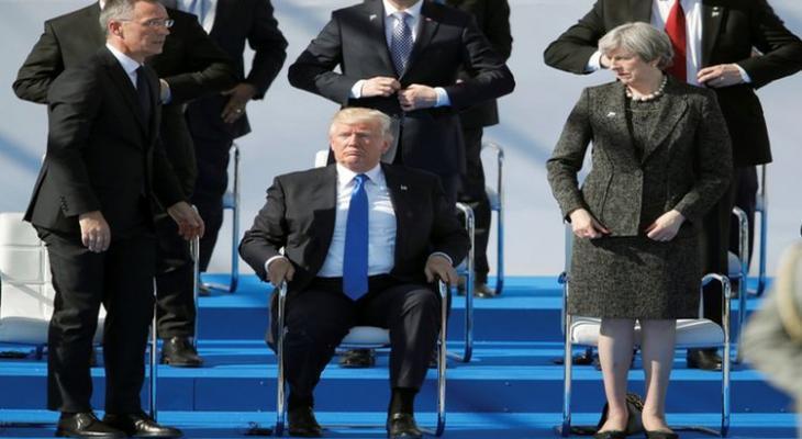 Трамп на саммите НАТО в Брюсселе