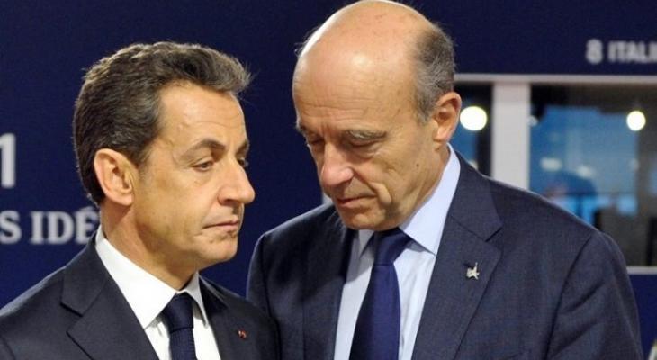Представители Республиканской партии Франции Николя Саркози и Ален Жюппе