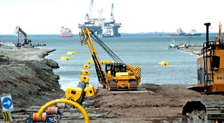водный монтаж труб газопровода Северный поток-2