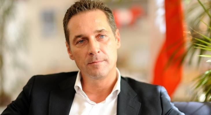 Председатель австрийской партии Свобода Хайнц-Кристиан Штрахе