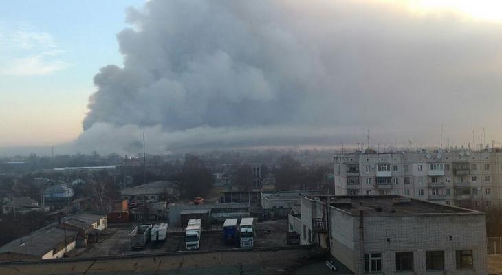 Пожар в Харьковской области