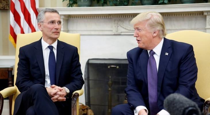 Президент США Дональд Трамп и генсек НАТО Йенс