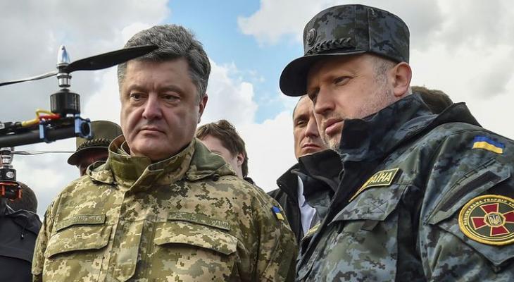 президент Украины Порошенко и секретарь СНБО А. Турчинов