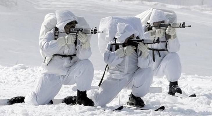 Российские военные в Арктике